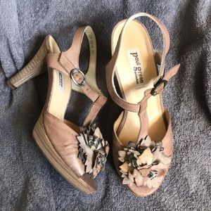 Paul Green Munchen Floral Strappy Heels